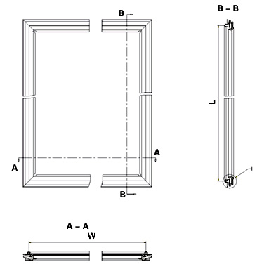 Fridge door gasket specification